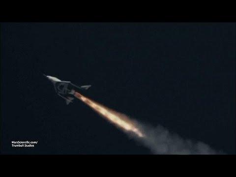 شاهد اختبار مركبة فضائية للركاب تعمل بالطاقة الصاروخية