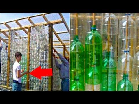 اسكتنلندي يصنع صوبة زجاجية من الزجاجات البلستيكية
