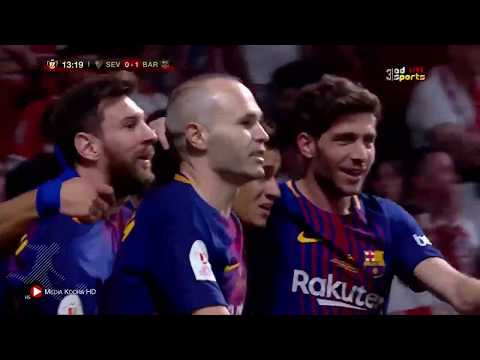 شاهد أهداف لقاء برشلونة وإشبيلية في النهائي