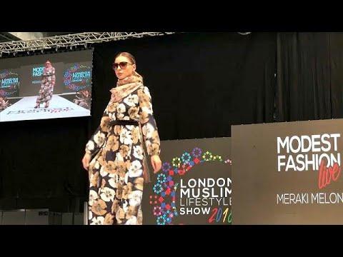 شاهد نبيذ بلا كحول ولحوم حلال في معرض لندن للأزياء الإسلامية