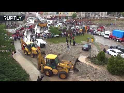 شاهد فيضانات هائلة تضرب أنقرة