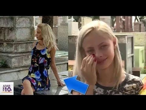 التقطت صورة للفتاة في المقبرة وعندما رأتها أختها كانت الصدمة
