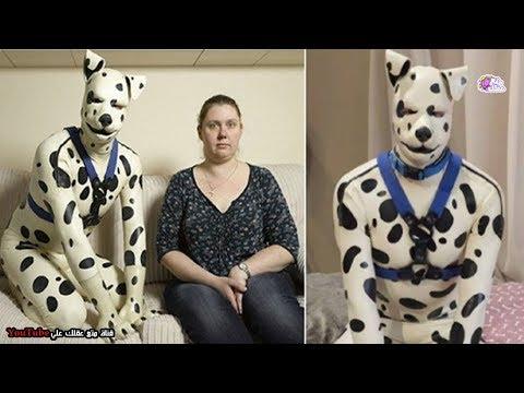 شاهد رجل يعيش حياة الكلاب لسبب صادم