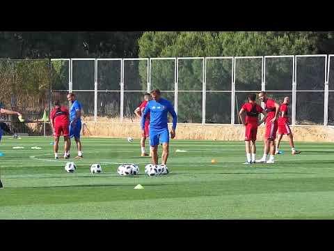 شاهد الحصة التدريبية ما قبل الأخيرة للأسود قبل مغادرة المغرب
