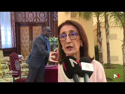 شاهد محمد السادس والرئيس النيجيري يترأسان حفلة توقيع 3 اتفاقيات