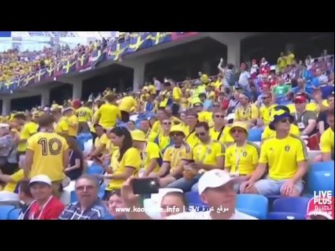 شاهد بث مباشر لمباراة منتخبي كوريا الجنوبية والسويد