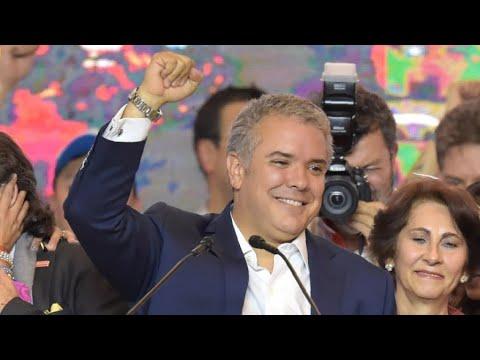 شاهد كلمة إيفان دوكي المرشح اليميني بعد فوزه في انتخابات الرئاسة الكولومبية