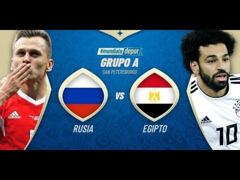 شاهد  البث المباشر لمباراة مصر وروسيا