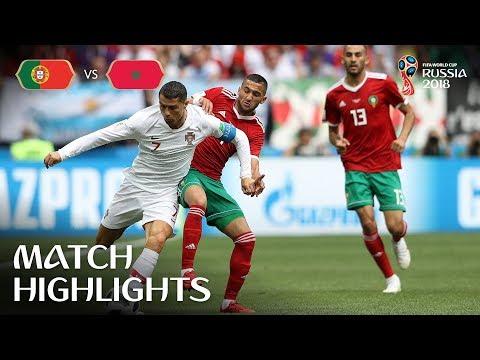 شاهد كريستيانو رونالدو يُسجّل في فوز البرتغال على المغرب