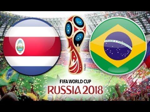 شاهد البث المباشر لمبارة البرازيل وكوستاريكا