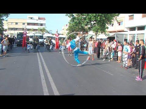 شاهد فنون السيرك تعبر شوارع الرباط وسلا ضمن موازين 2018