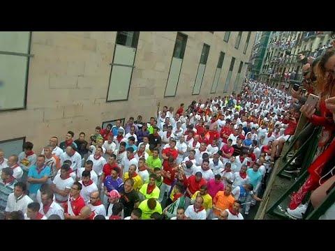 مهرجان بامبلونا الإسباني ينطلق بسباق للثيران