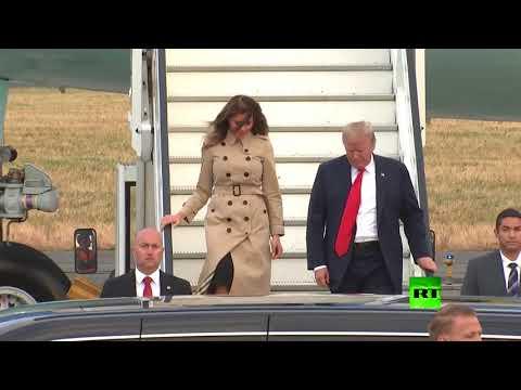 شاهد لحظة وصول الرئيس الأميركي إلى بروكسل