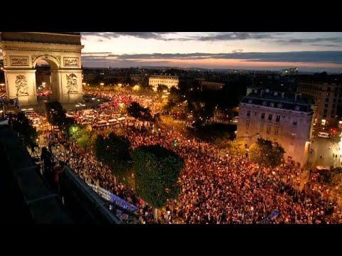 شاهد لقطات نادرة للجماهير الفرنسية بعد حجز تذكرة نهائي المونديال 2018