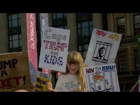 المظاهرات المناوئة لترامب تطارده في اسكتلندا