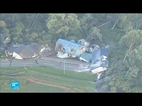 شاهد زلزال عنيف يضرب اليابان بعد الإعصار