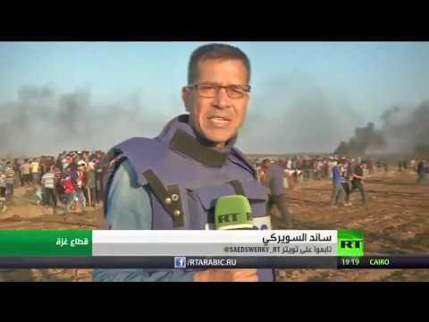 شاهد سقوط 6 قتلى فلسطينيين ونحو مائتي مصابًا خلال مسيرات العودة في غزَّة