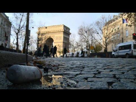 شاهد كلفة أعمال التخريب التي طالت قوس النصر في العاصمة الفرنسية