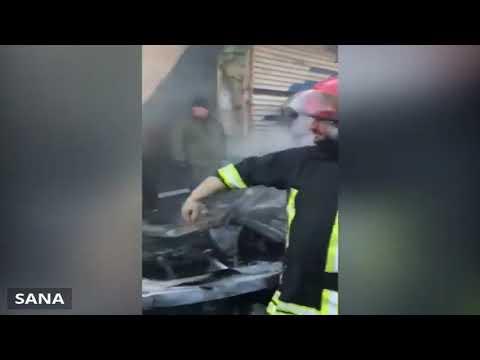 شاهد انفجار سيارة مُفخخة في ساحة الحمام بمدينة اللاذقية
