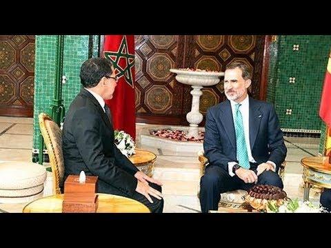 شاهد الملك فيليبي السادس يستقبل رئيس الحكومة المغربية