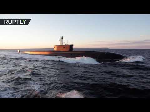 شاهد وزارة الدفاع الروسية تختبر الغواصة بوري الحاملة للصواريخ