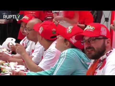 شاهد مهرجان تناول الفلفل الحار في بكين