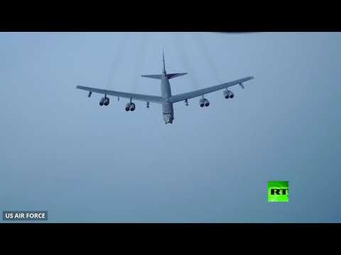 شاهد مقاتلات أميركية وقطرية تحلق في الخليج