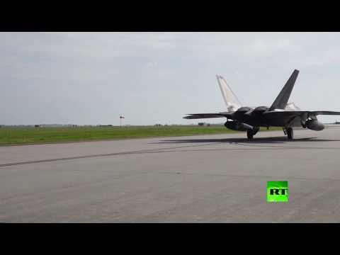 شاهد دفعة جديدة من المقاتلات الأميركية الى قطر