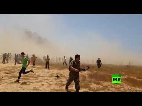 شاهد لحظة تفجير استهدف قيادات الجيش الوطني الليبي خلال جنازة المسماري