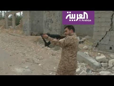 شاهد تجدد الاشتباكات خلف مطار طرابلس في ليبيا