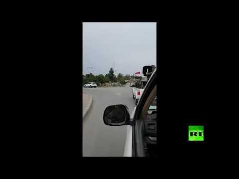 شاهد قوات حرس الجيش السوري تلاحق القوات الأميركية حتى خروجها للعراق