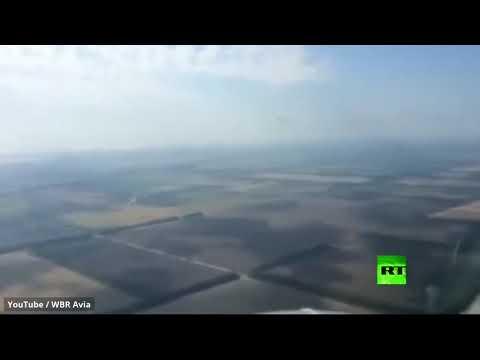 شاهد طيار روسي يُسجل لحظة اصطدام طائر بنافذة طائرة