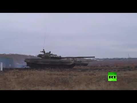 شاهد الدبابات تطلق النار في مقاطعة سفيردلوفسك الروسية