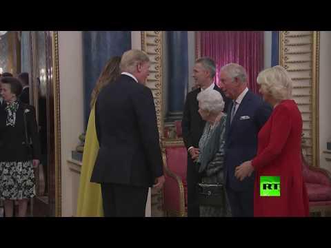 شاهد عتاب من ملكة بريطانيا لابنتها بحضور آل دونالد ترامب