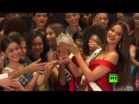 شاهد إزاحة الستار عن تاج جديد لملكة جمال الكون بحضور المتنافسات