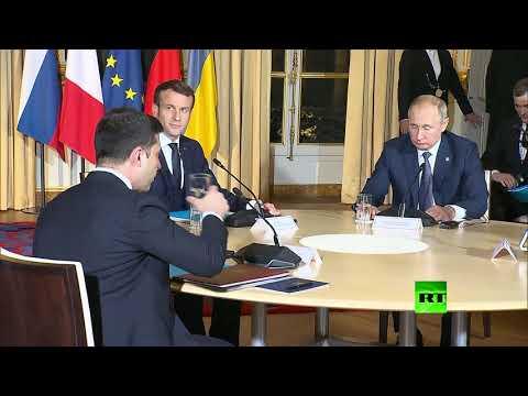 شاهد أول ما قاله الرئيس فلاديمير بوتين لنظيره الأوكراني