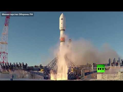 شاهد إطلاق صاروخ سويوز يحمل قمر غلوناس الروسي