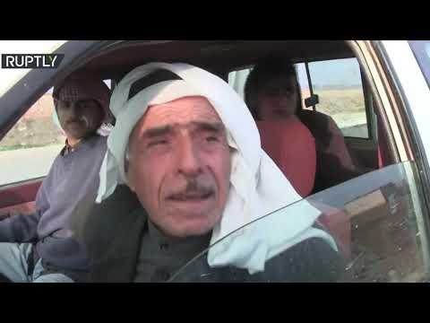 شاهد إعادة فتح الطريق الدولي الحسكة  حلب