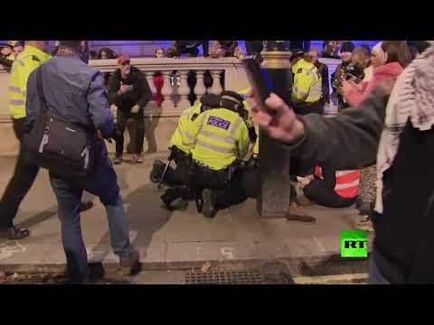 شاهد مظاهرات في لندن رفضًا لنتائج الانتخابات البرلمانية