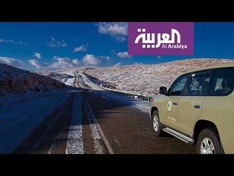 شاهد شاهد الثلوج التي تساقطت على نيوم شمال السعودية