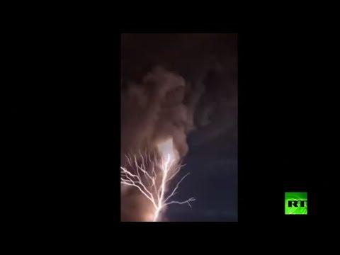 شاهد بركان داخل بركان في الفلبين يهدد بتسونامي عملاق حال انفجاره