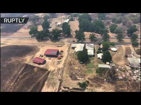 شاهد لقطات من الجو لآثار حرائق الغابات في أستراليا