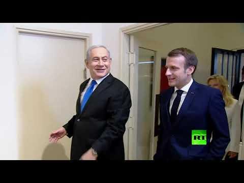 شاهد إيمانويل ماكرون يلتقي بنيامين نتنياهو في إسرائيل