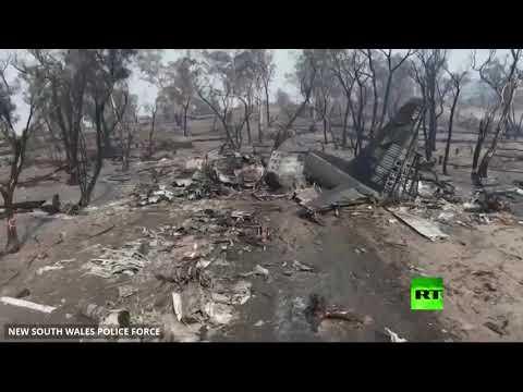 شاهد لقطات جوية من مكان تحطم طائرة لإخماد الحرائق في أستراليا