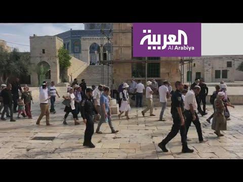 شاهد متطرفون يهود يقتحمون باحة المسجد الأقصى ومخاوف من تقسيمه زمانيًا ومكانيًا
