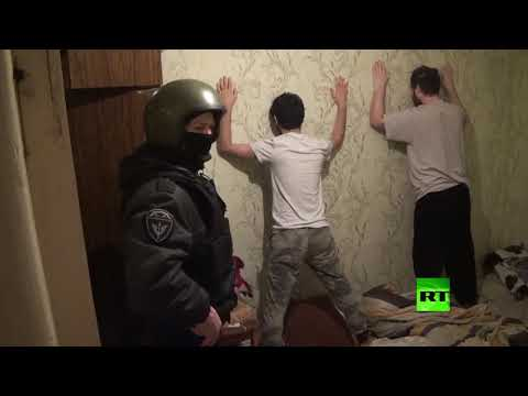 شاهد اعتقال عضو في خلية تمويل لـداعش في روسيا
