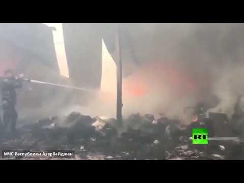 اندلاع حريق هائل بأكبر مركز تسوق في عاصمة أذربيجان باكو