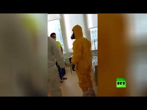 شاهد بوتين يتحدث مع أحد المصابين بـكورونا