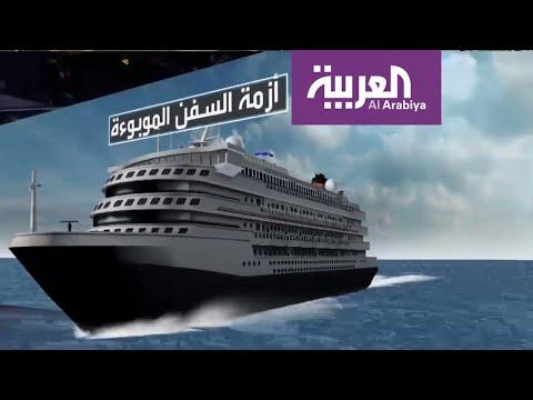 شاهد أزمة سفن الـكورونا في طريقها إلى فلوريدا الأميركية