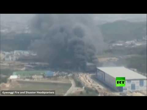 عشرات القتلى جراء حريق داخل مستودع في كوريا الجنوبية
